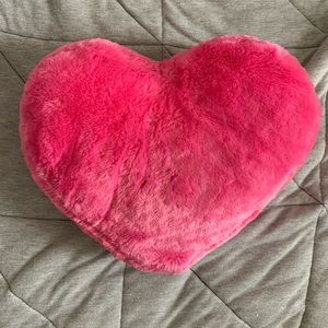 Small Pink Heart Throw Pillow